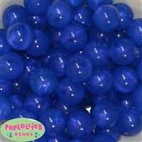20mm Royal Blue Frost Acrylic Bubblegum Beads