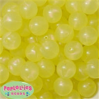 20mm Yellow Frost Acrylic Bubblegum Beads