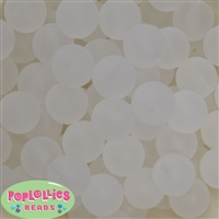 20mm White Ghost Acrylic Bubblegum Beads Bulk