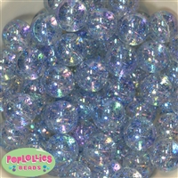 Baby Blue Clear Glitter Beads