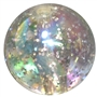 20mm Clear Glitter Acrylic Bubblegum Beads