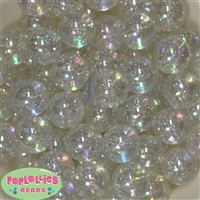 Clear Glitter Beads