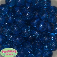 Royal Blue Clear Glitter Beads