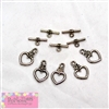 Heart Toggle Clasps
