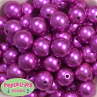 20mm Hot Pink Illusion Beads