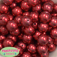 20mm Red Illusion Style Acrylic Bubblegum Bead