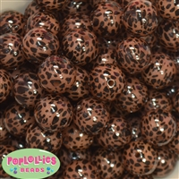 20mm Leopard Print Bubblegum Beads
