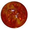 20mm Orange Marble Acrylic Bubblegum Bead