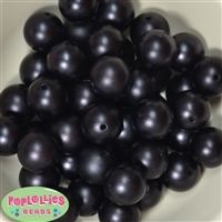 20mm Black Matte Pearl Beads