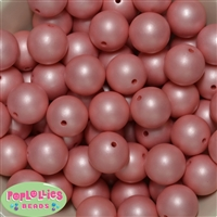 20mm Coral Matte Pearl Beads