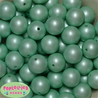 20mm Mint Matte Pearl Beads