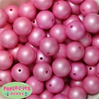 20mm Rose Matte Pearl Beads