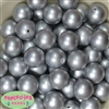 20mm Matte Silver Acrylic Bubblegum Beads