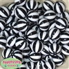 20mm Black Melon Stripe Bubblegum Beads