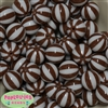 20mm Brown Melon Stripe Bubblegum Beads