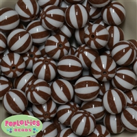Brown Melon Stripe Bead