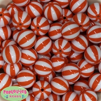 Orange Melon Stripe Beads
