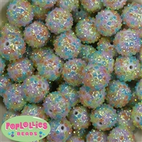 20mm Multi Color Mini Rhinestone Bubblegum Beads