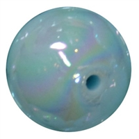 20mm Baby Blue Miracle AB Acrylic Bubblegum Beads