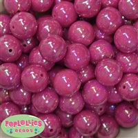 20mm Cranberry Miracle AB Acrylic Bubblegum Beads