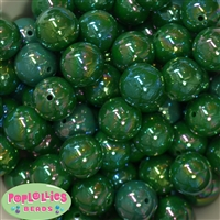 20mm Emerald Green Miracle Bubblegum Beads Bulk