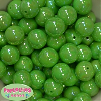 20mm Lime Miracle Bubblegum Beads Bulk