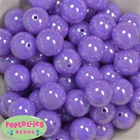 20mm Neon Lavender Miracle AB Acrylic Bubblegum Beads