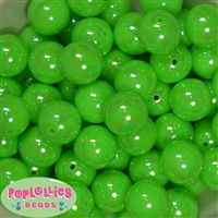 20mm Neon Lime Green Miracle AB Acrylic Bubblegum Beads