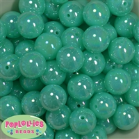 20mm Neon Mint Miracle AB Acrylic Bubblegum Beads