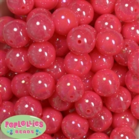 20mm Neon Hot Pink Miracle AB Acrylic Bubblegum Beads