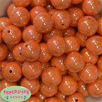 20mm Orange Miracle Bubblegum Beads Bulk