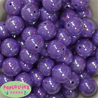 20mm Purple Miracle Bubblegum Beads Bulk