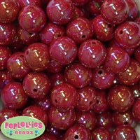 20mm Red Miracle Bubblegum Beads Bulk