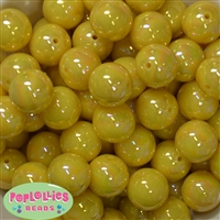 20mm Yellow Miracle Bubblegum Beads Bulk