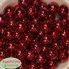20mm Red Mirror Acrylic Bubblegum Beads Bulk
