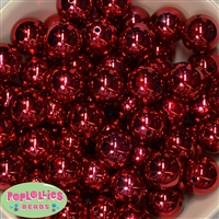 20mm Red Mirror Beads