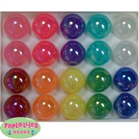 20mm Mixed Color Shiny AB Bubble Style Acrylic Gumball Bead