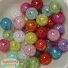 20mm Mix of Crackle Acrylic Bubblegum Bead