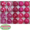 20mm Hot Pink Mixed Styles Acrylic Bubblegum Bead