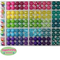 10pc Jewel Toned Themed Mixed Bubblegum Beads