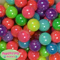 20mm Mix of Neon Miracle Acrylic Bubblegum Bead