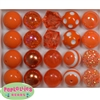 20mm Orange Mixed Bubblegum Beads