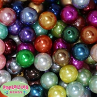 20mm Ultimate Mix of Faux Pearl Acrylic Bubblegum Bead 160pc