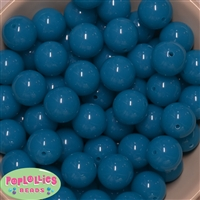 20mm Neon Blue Bubblegum Beads