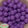 20mm Neon Lavender Jelly Style Acrylic Bubblegum Beads