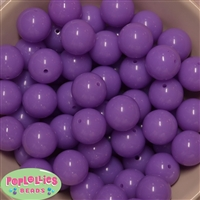 20mm Neon Lavender Bubblegum Beads Bulk
