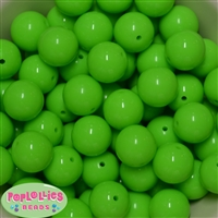 20mm Neon Lime Jelly Style Acrylic Bubblegum Beads