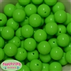 20mm Neon Lime Jelly Style Acrylic Bubblegum Beads Bulk