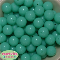 20mm Neon Mint Bubblegum Beads Bulk