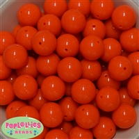 20mm Neon Orange Jelly Style Acrylic Bubblegum Beads Bulk